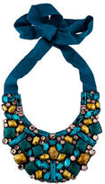 Oscar de la Renta Crystal Bib Necklace