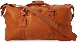 Kenneth Cole Reaction Cognac Leather Duffel Bag