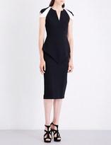 Roland Mouret Otterden V-neck crepe dress