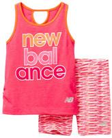 New Balance Performance Tank & Bike Short 2-Piece Set (Baby, Toddler, & Little Girls)