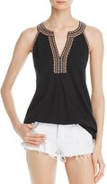 Soft Joie Rin Embroidered Sleeveless Top