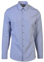 Gucci White And Blue Striped Cotton Shirt