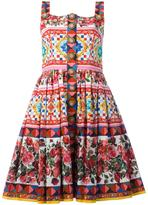 Dolce & Gabbana Majolica rose print dress - women - Cotton - 38