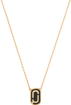 Marc Jacobs Icon Enamel Pendant Necklace in Metallic Gold.