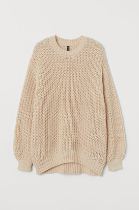 H&M Chunky-knit Sweater - Beige