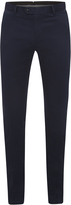 Oxford Slim Leg Cotton Trousers Blue X