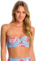 Betsey Johnson Swimwear Urban Rose Bump Me Up Underwire Bikini Top 8146561