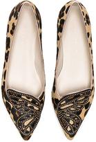 Sophia Webster Calf Hair Bibi Butterfly Leopard Flats