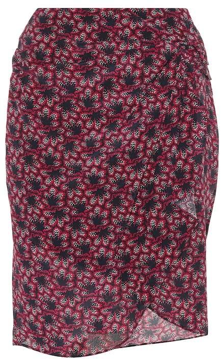 Isabel Marant Livia printed silk miniskirt