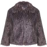 Yumi Womens/Ladies Speckled Faux Fur Coat (L)
