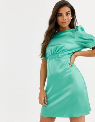 Asos DESIGN satin mini tea dress