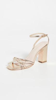 Loeffler Randall Maeve Knot Bow Ankle Strap Heel Sandals