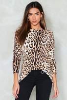 Nasty Gal Roar Leopard Sweater