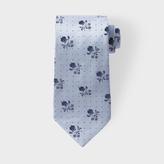 Paul Smith Men's Sky Blue Floral Polka Silk Tie