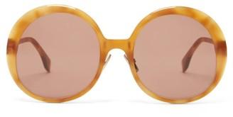 Fendi Round Tortoiseshell-acetate Sunglasses - Tortoiseshell