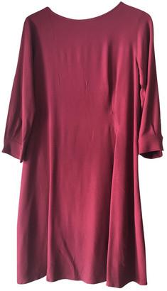 Max Mara Weekend Burgundy Synthetic Dresses