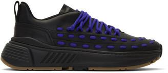 Bottega Veneta Black and Blue Lace Speed Sneakers