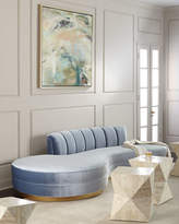Haute House Layla Chanel Tufted Curved Sofa