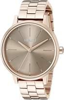 Nixon Women's A0992214-00 Kensington Analog Display Japanese Quartz Rose Gold Watch