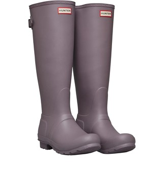 Hunter Womens Back Adjustable Tall Wellington Boots Thundercloud