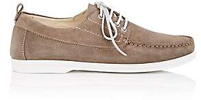 Barneys New York MEN'S SUEDE BOAT SHOES - BEIGE, TAN/TAUPE SIZE 12 M