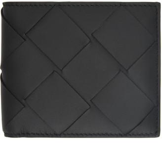 Bottega Veneta Black Maxi Intrecciato Bifold Wallet