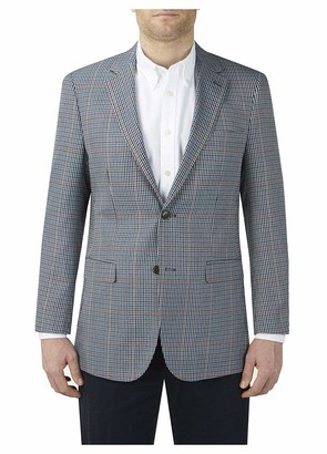 Skopes Mens Hardwick Big Size Check Sports Jacket in Blue/Grey Check in 56L