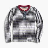 J.Crew Boys' long-sleeve striped ringer henley T-shirt