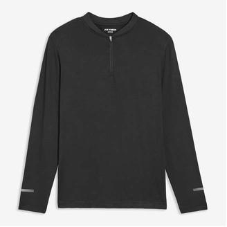 Joe Fresh Men's Quarter-Zip Active Top, Black (Size XL)