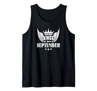 KINGS ARE BORN IN SEPTEMBER D780 Gym Fitness Workout Tee Tank Top