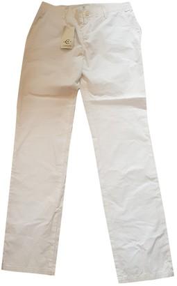 Cerruti White Cotton Trousers for Women