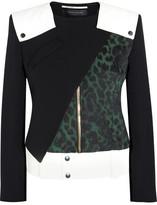 Roland Mouret Durango leopard-jacquard and crepe jacket