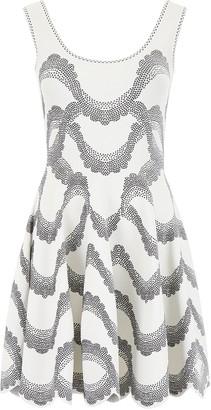 Alexander McQueen Scallop Hem Mini Dress