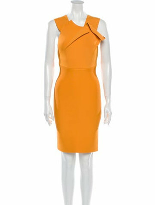 Roland Mouret V-Neck Mini Dress Orange