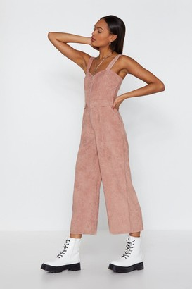 Nasty Gal Womens Who Do You Pink You're Kidding Corduroy Jumpsuit - 8