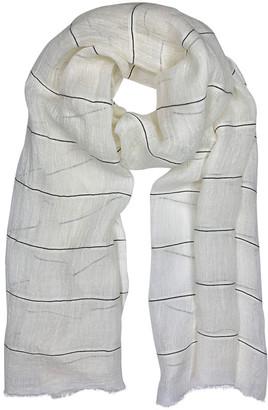 Slate & Salt Gauze Stripe Linen Wrap