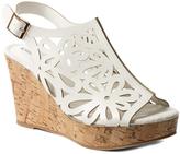 Pierre Dumas White Lolita Wedge Sandal