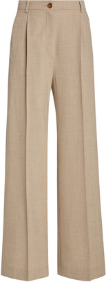 LA COLLECTION Phoebe Crepe Wool Trousers