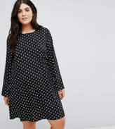 Alice & You Long Sleeve Swing Dress In Spot Print