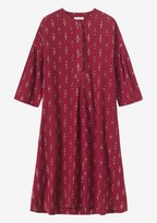 Toast Two Colour Ikat Cotton Smock Dress