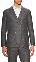 Luca Roda Embroidered Dots Notch Lapel Sportcoat