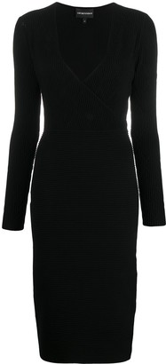 Emporio Armani Ribbed-Knit Dress