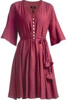 Plum Belted Mini Dress