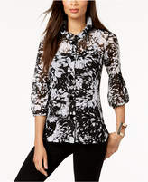 JM Collection Printed Knit Jacket, Created for Macy's