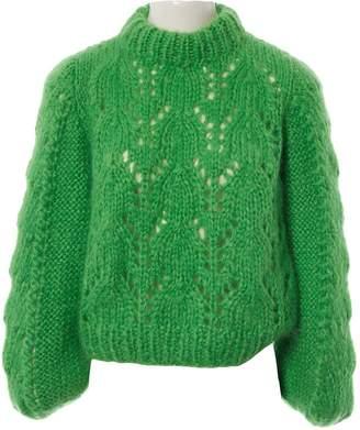 Ganni Green Wool Knitwear