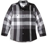 Burberry 'Mini Camber' Check Long Sleeve Shirt (Toddler Boys, Little Boys & Big Boys)