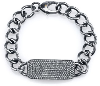 Sheryl Lowe Pave Diamond Id Bracelet