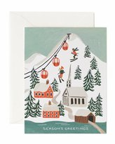 Rifle Paper Co. Holiday Snow Boxed Card Set, Set of 8