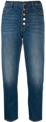 J Brand High Waisted Cropped Denim Jeans