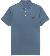 Ralph Lauren Purple Label Cotton-piqué Polo Shirt - Blue